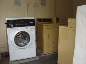 Laundry machines available